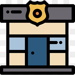 260x261 Cartoon Police Station, Police Station, Cartoon, Trees Png Image