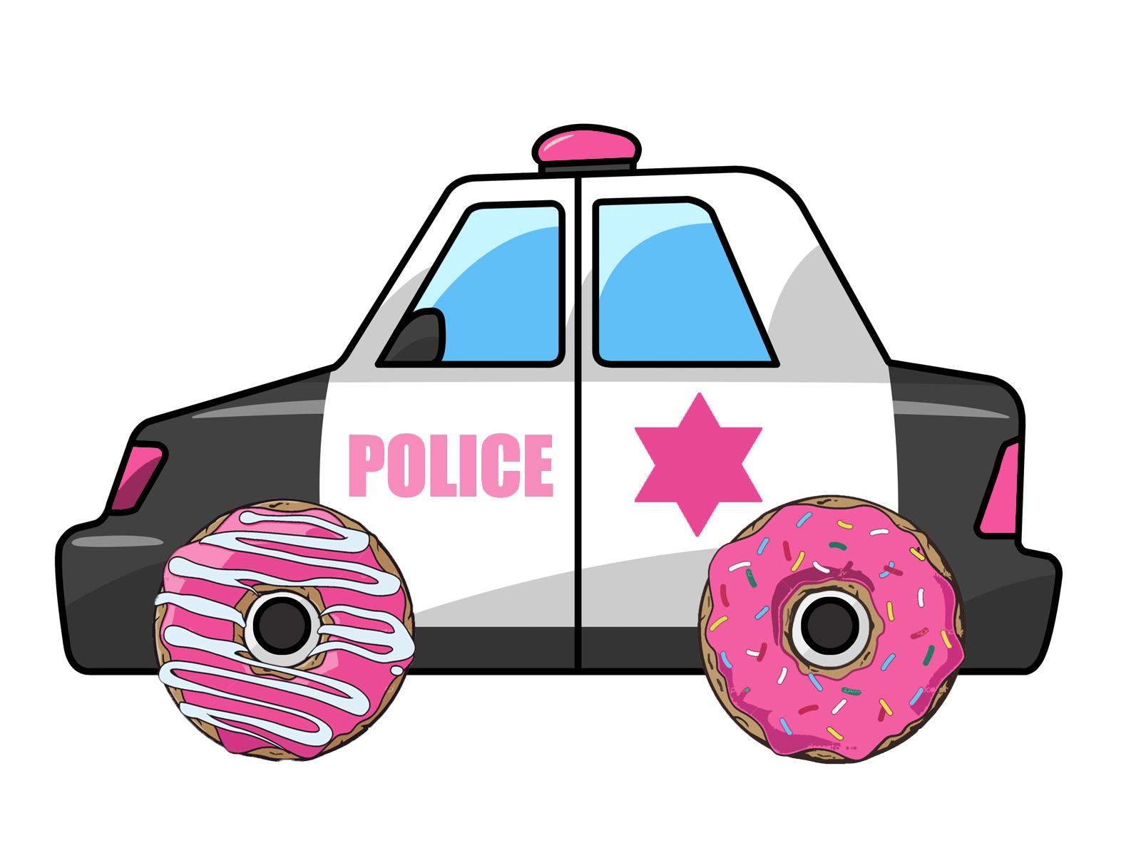 1600x1200 Police Car Cartoon Clipart