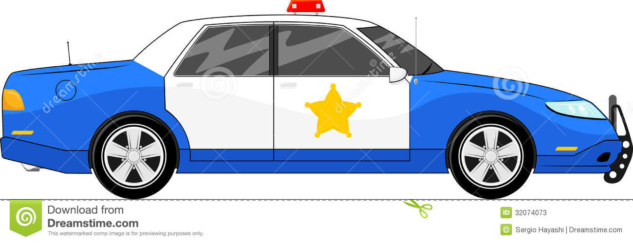 1300x499 Blue Police Car Clipart