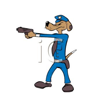 350x350 Dog Police Badge Clipart