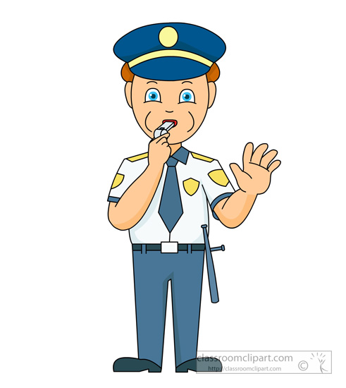 491x550 Safety Clipart Male Police Officer Directing Traffic