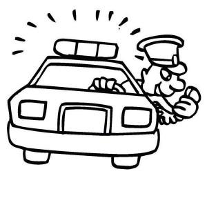 300x300 Police Car Lamborghini Crime Stopper Coloring Page Color Luna