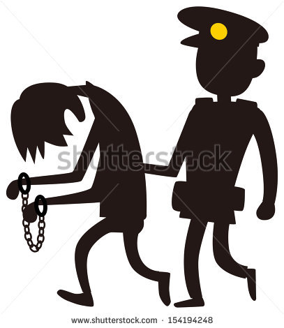 407x470 Police Clipart Arresting
