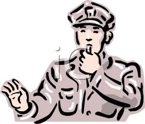 300x257 Policeman Blowing His Whistle