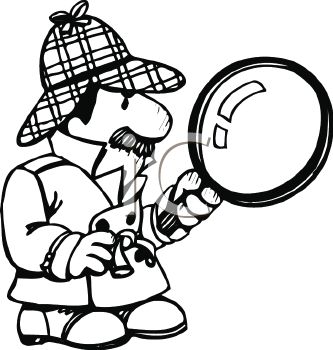 333x350 Royalty Free Detective Clip Art, Occupations Clipart