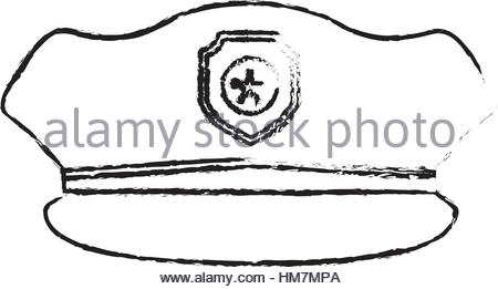 450x261 Figure Police Officer Icon Image, Vector Illustration Stock Vector