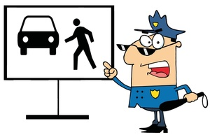 300x193 Cop Clipart Image An Angry Police Officer Pointing To A Diagram