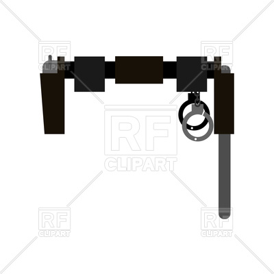 400x400 Belt Of Policeman With Gun, Club And Handcuffs Royalty Free Vector