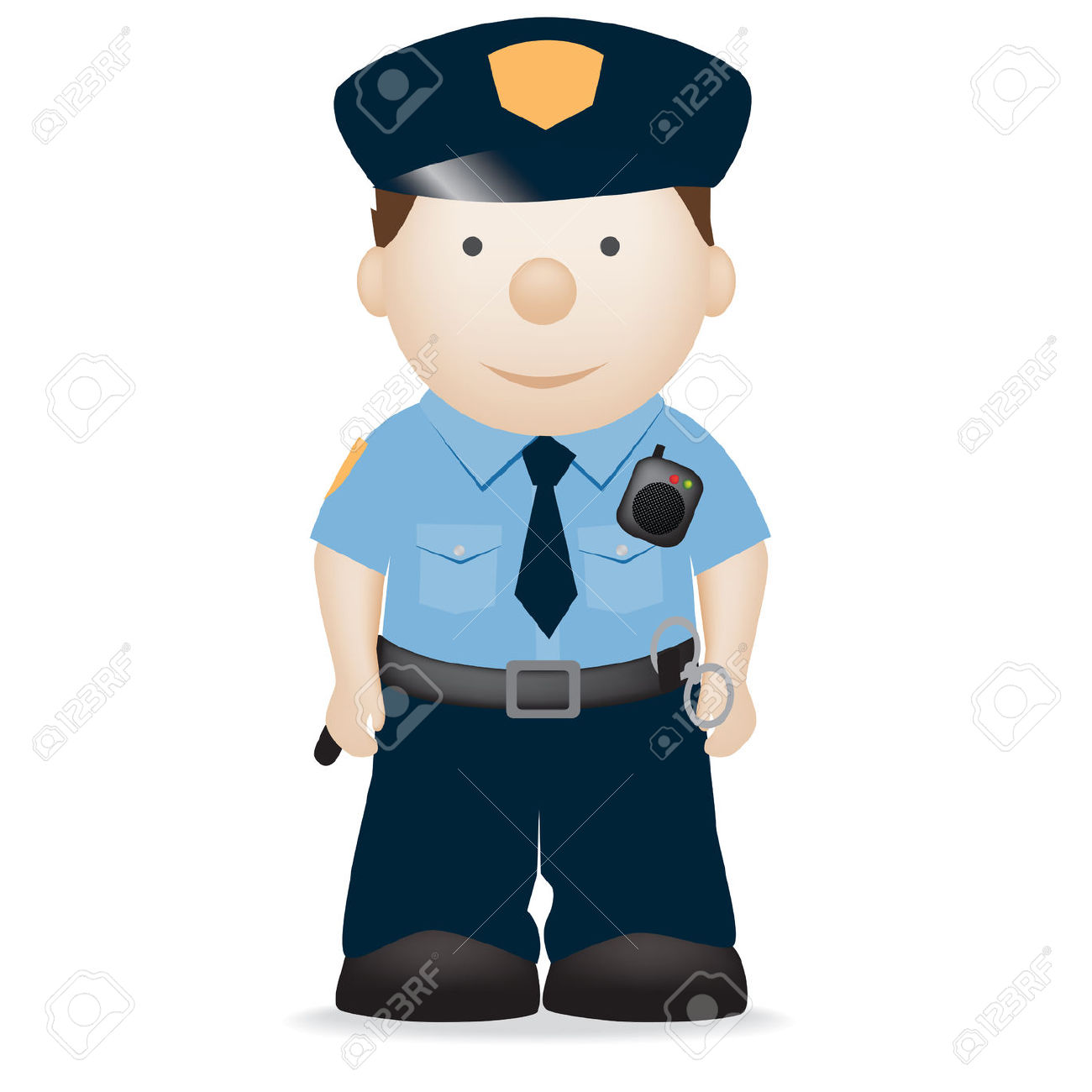 1300x1300 Police Officer Clipart