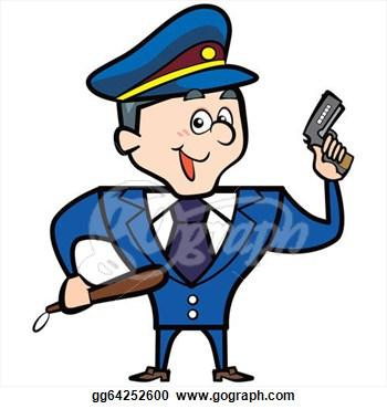 350x370 Police Clipart Gun