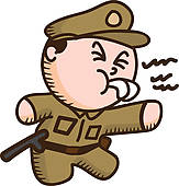 163x170 Clip Art Of Policeman Cartoon K15583669
