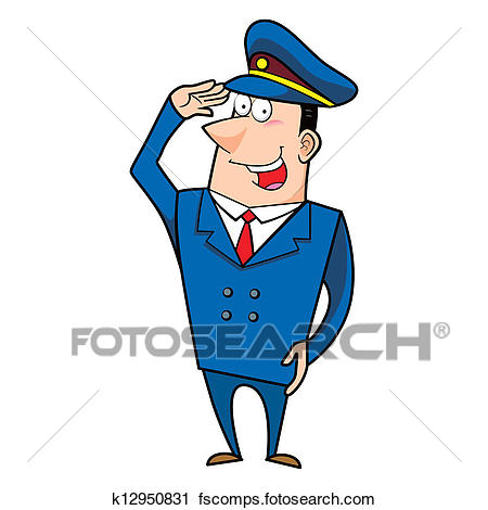 450x470 Clipart Of Male Cartoon Police Officer K12950831