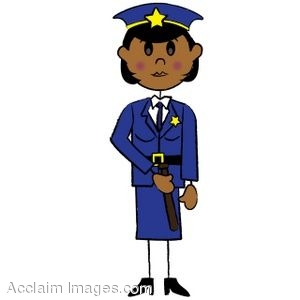 300x300 Female Police Officer Clipart
