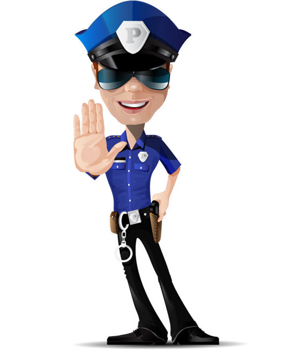 600x715 Free Vector Police Cartoon Clipart 2
