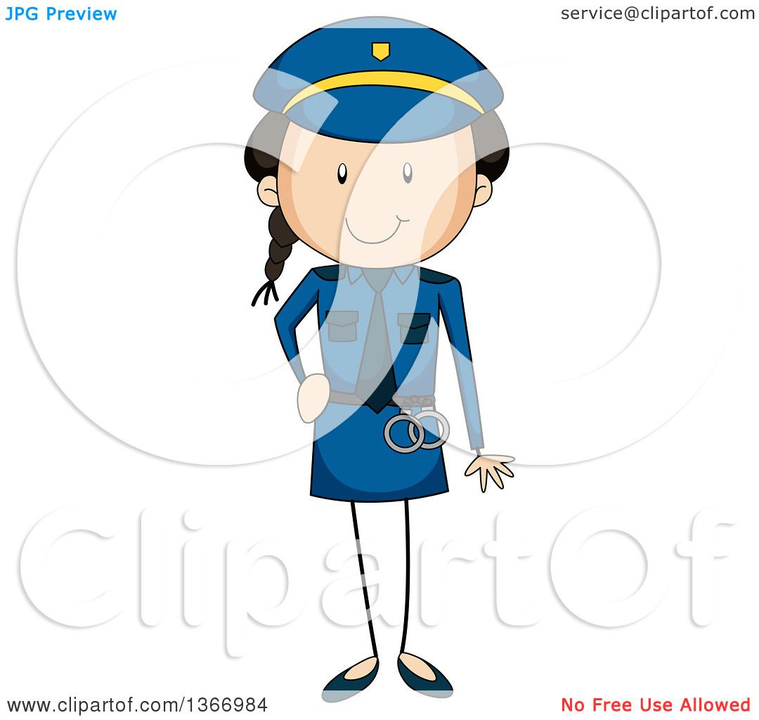 1080x1024 Clipart Of A Stick Girl Police Officer