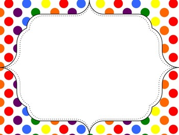 350x263 Polka Dot Rainbow Dot Frames Freebie By Mercedes Hutchens Tpt