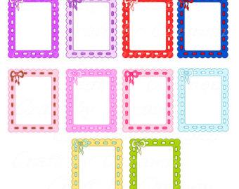340x270 Frames Cute Frames Polka Dot Frames Frames Clip