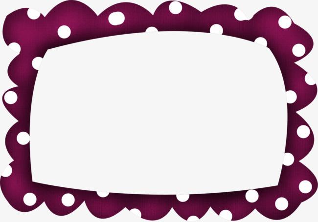 650x455 Red Polka Dot Cartoon Frames, Frame, Red Frame, Pattern Png Image