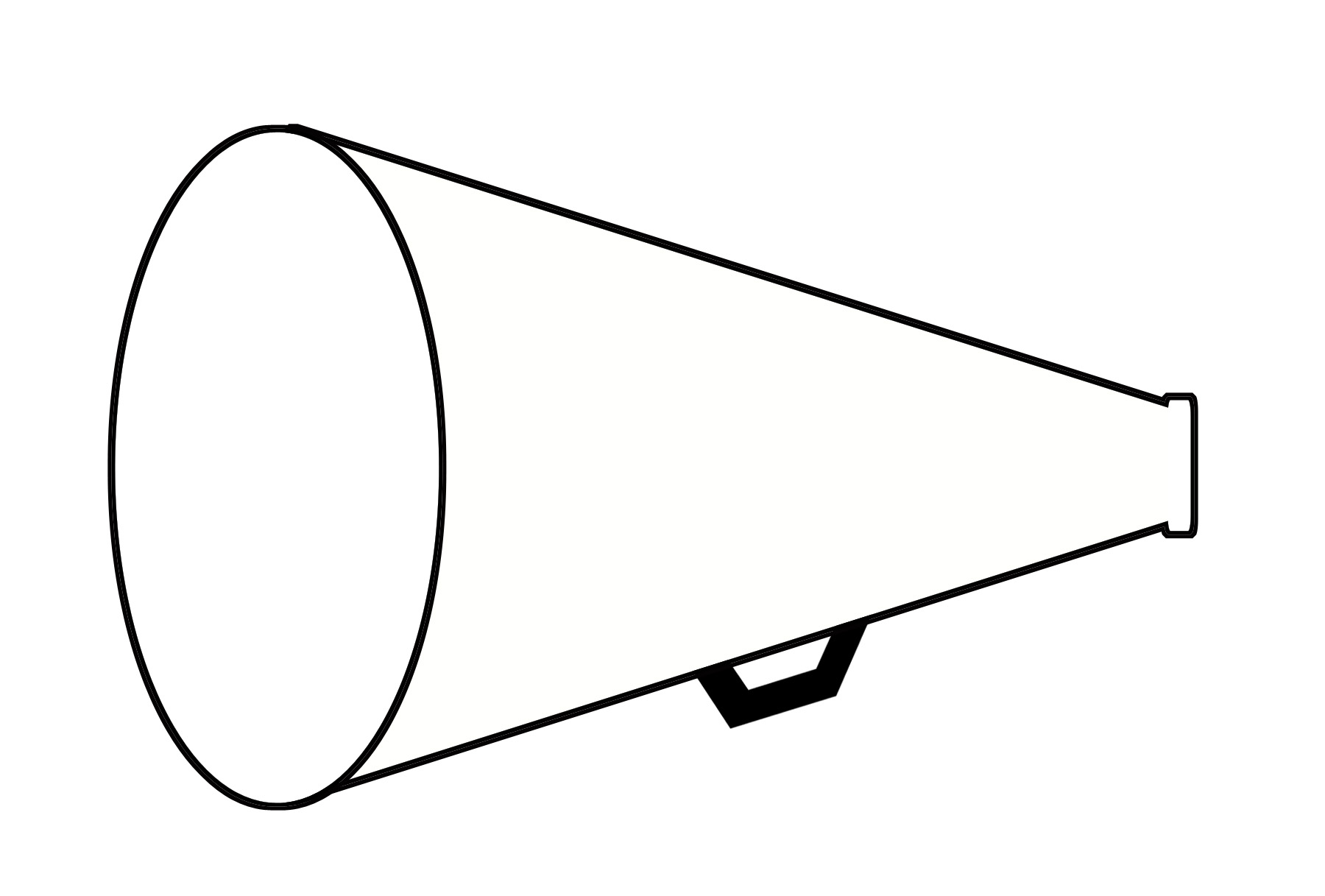 1800x1217 Free Megaphone Outline Clipart