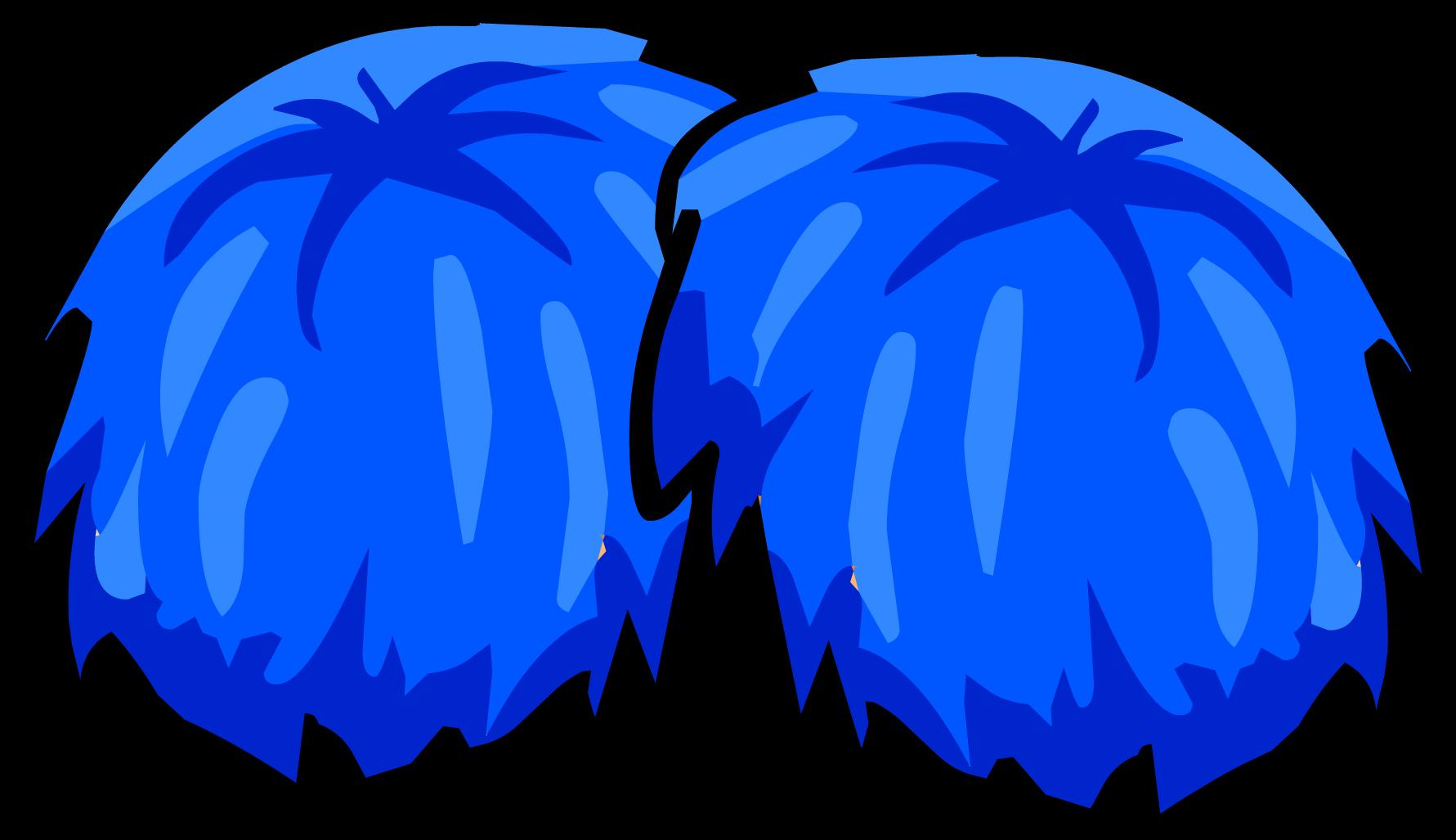 1781x1027 Blue Pom Poms Clipart