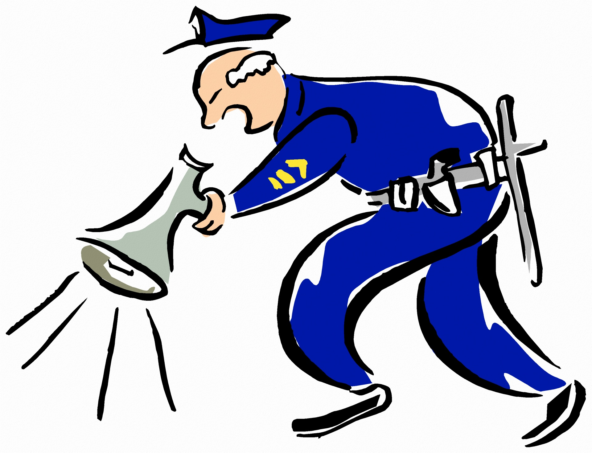 1920x1470 Police Officer Amp Megaphone Free Stock Photo