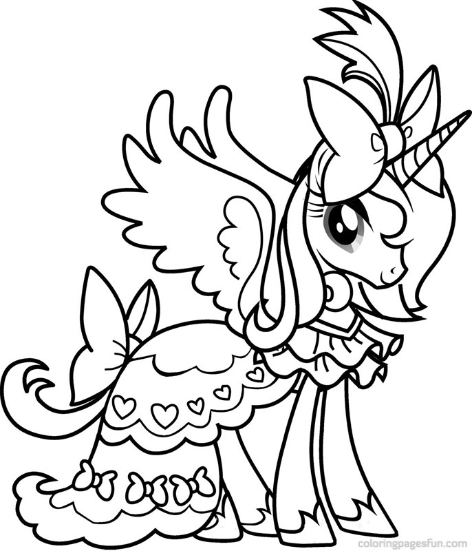 686x800 My Little Pony Princess Luna Coloring Pages