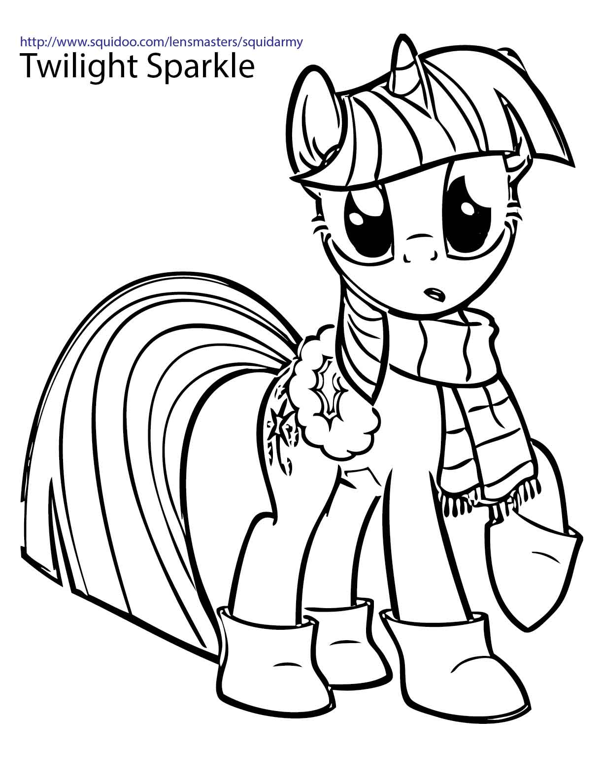 1224x1584 My Little Pony Twilight Sparkle Coloring Pages