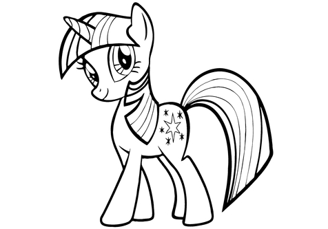 476x333 Pony Coloring Book Page Image Clipart Images