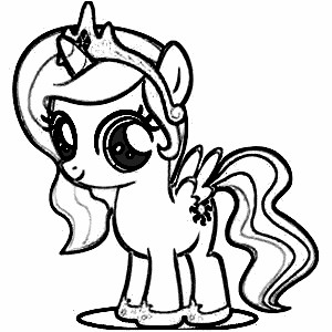300x300 Little Pony Coloring Pages Online