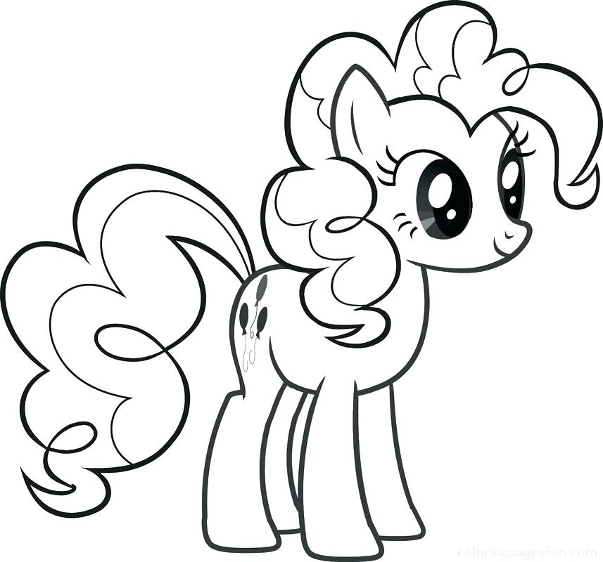 857x800 Pony Coloring Pages