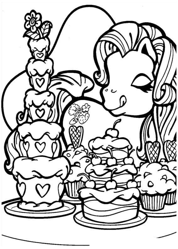 567x794 Pony Coloring Pages