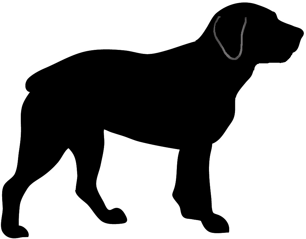 1000x781 Dog Silhouette