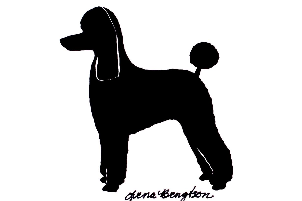 1231x821 Poodle Silhouette Clipart