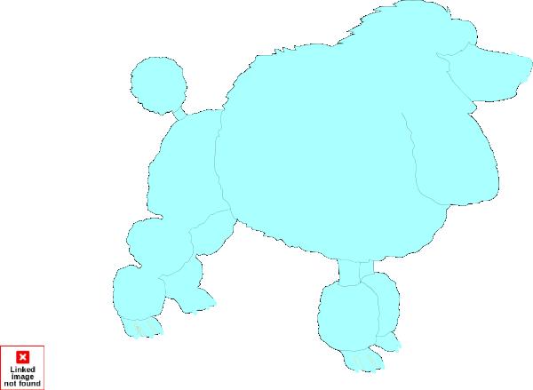600x439 Blue Poodle Clip Art