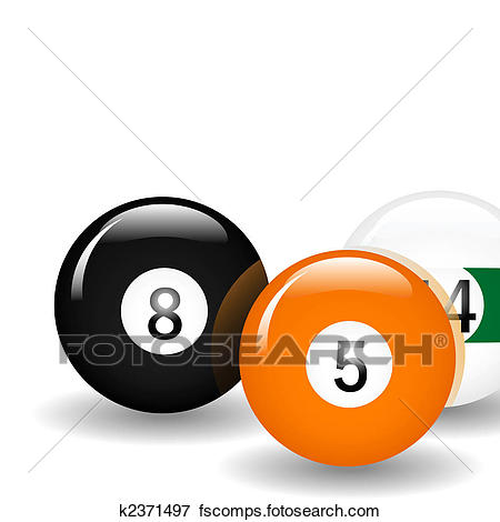 450x470 Clip Art Of Pool Balls K2371497