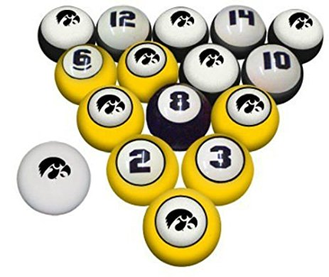 463x390 Iowa Hawkeyes Ncaa Collegiate Billiards Pool Balls