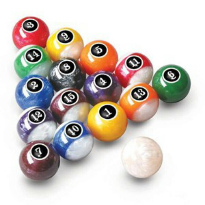 720x720 Pearled Pool Balls Man Cave Worthy Pool Table, Men