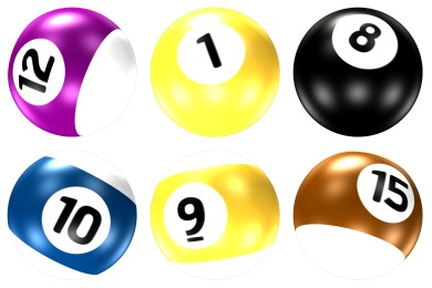 390x260 Pool Ball Iconset (16 Icons) Barkerbaggies