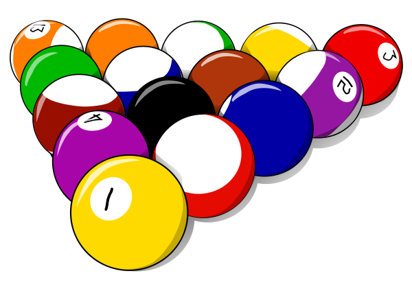 600x424 Pool Balls Clipart