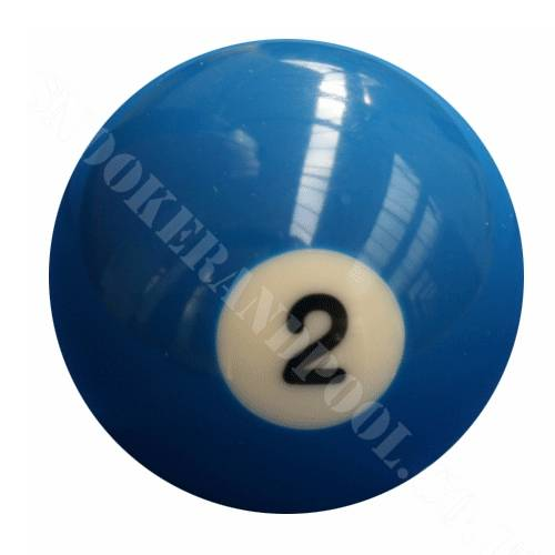 500x500 Single Number 2 Pool Ball Snookerandpool.co.uk
