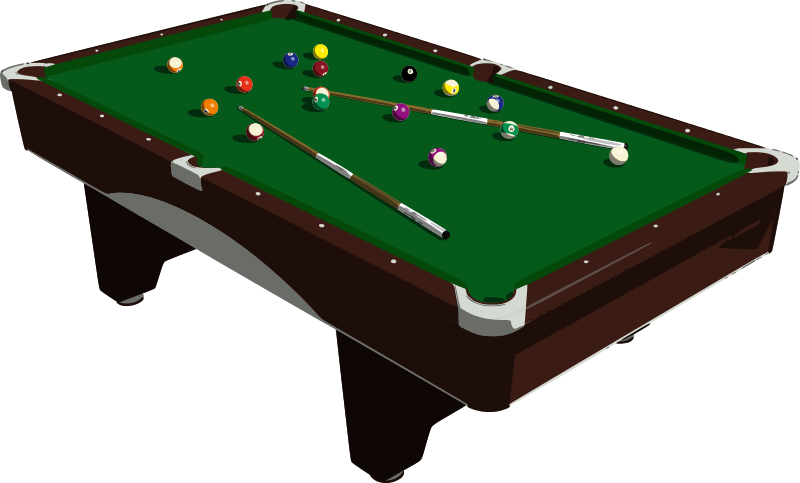 800x483 Pool Table Clipart