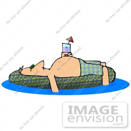 450x450 Cliprt Graphic Of Man Sun Bathing Onn Inner Tube In