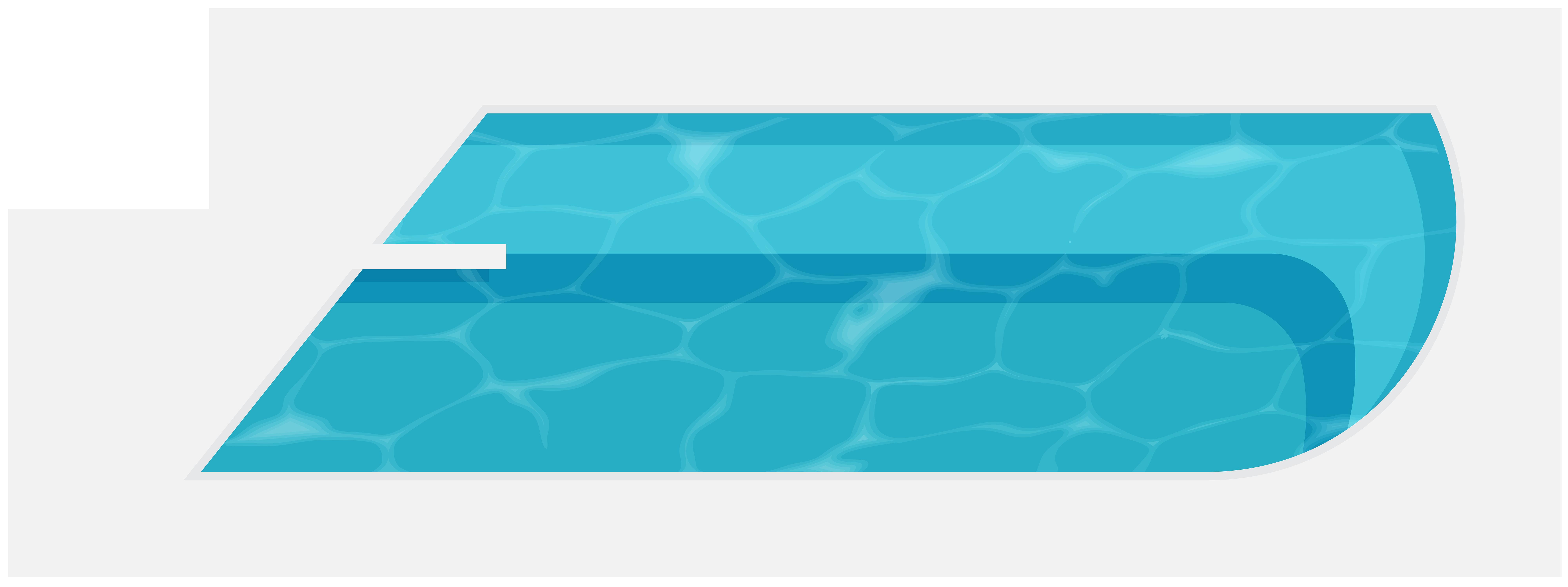 8000x2995 Swimming Pool Png Clip Art