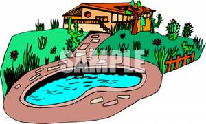 300x180 House With Swimming Pool Clip Art Cliparts