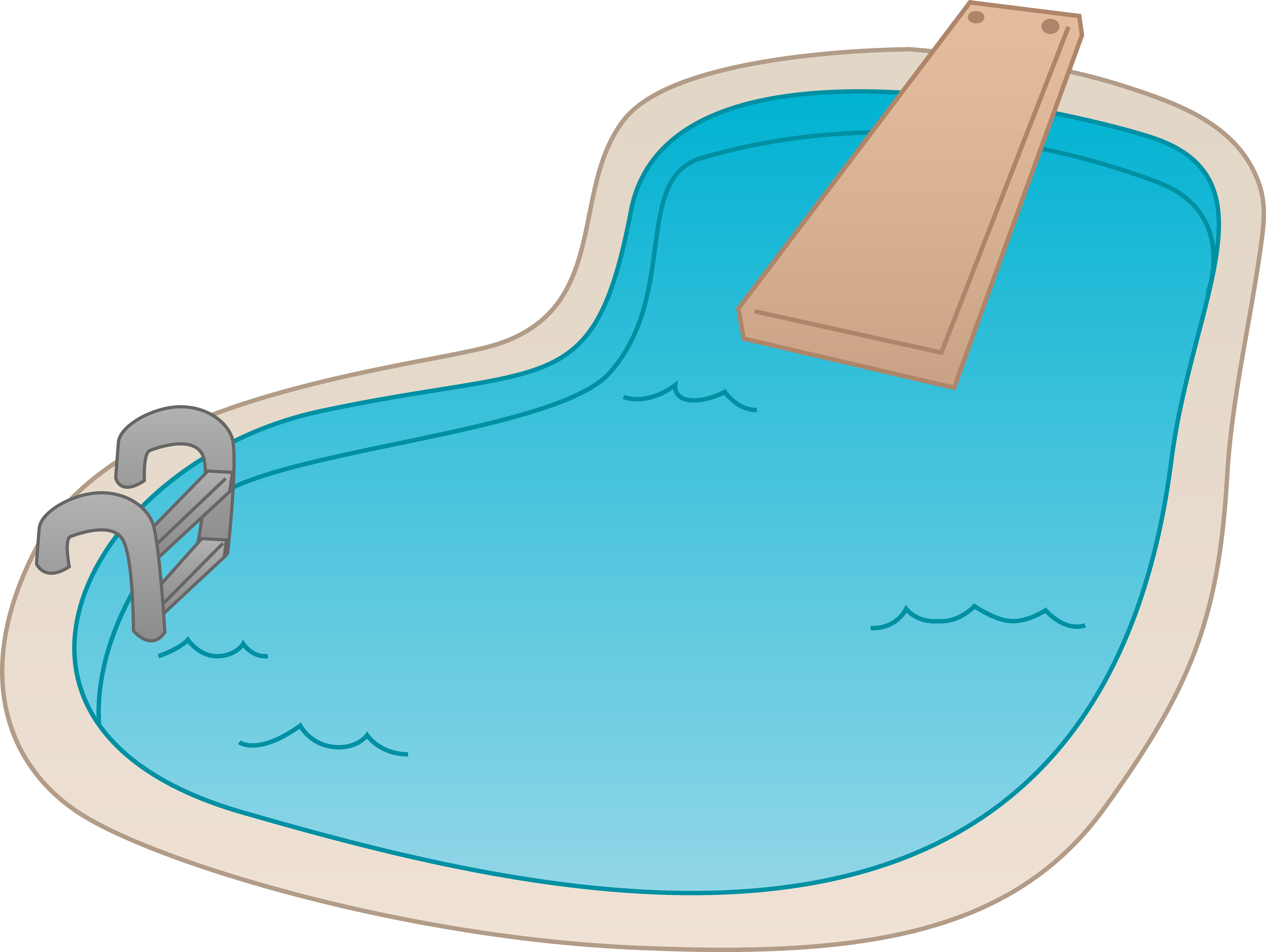 8339x6274 Clipart Of A Pool