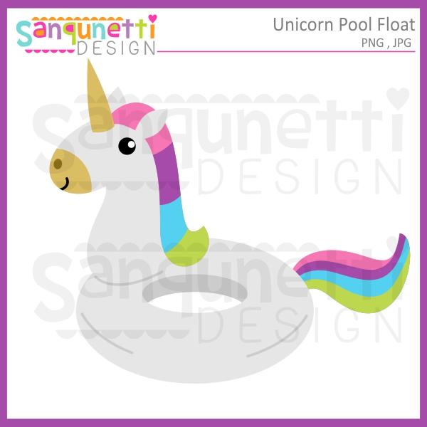 600x600 Sanqunetti Design Unicorn Pool Float Clipart