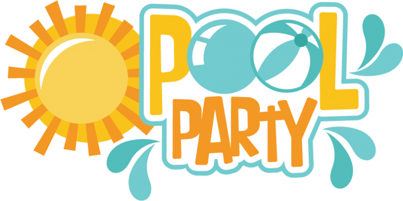800x400 Flippers Clipart Swimming Pool Party