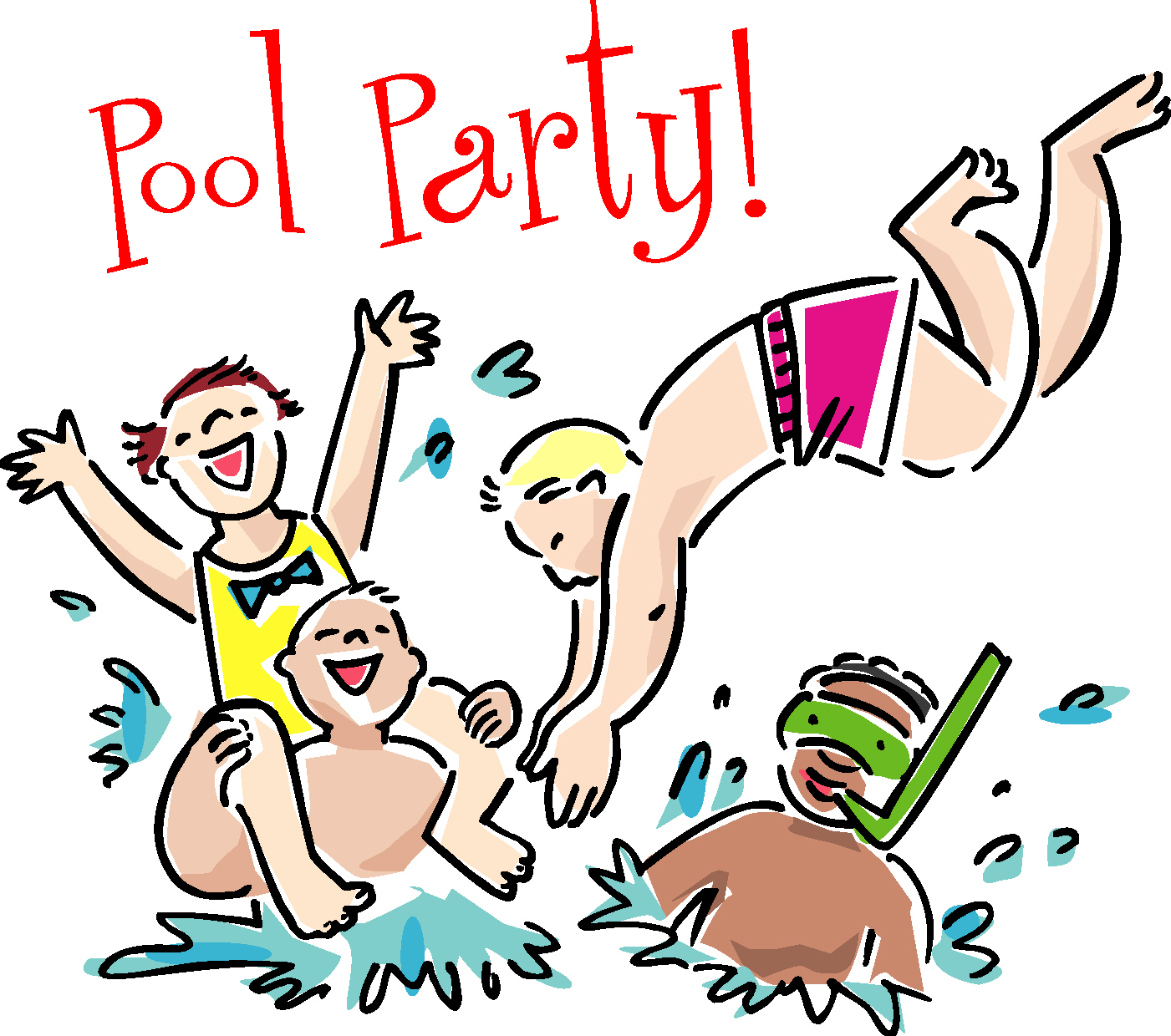 1401x1240 Pool Party Swimming Party Clipart Free Images 2