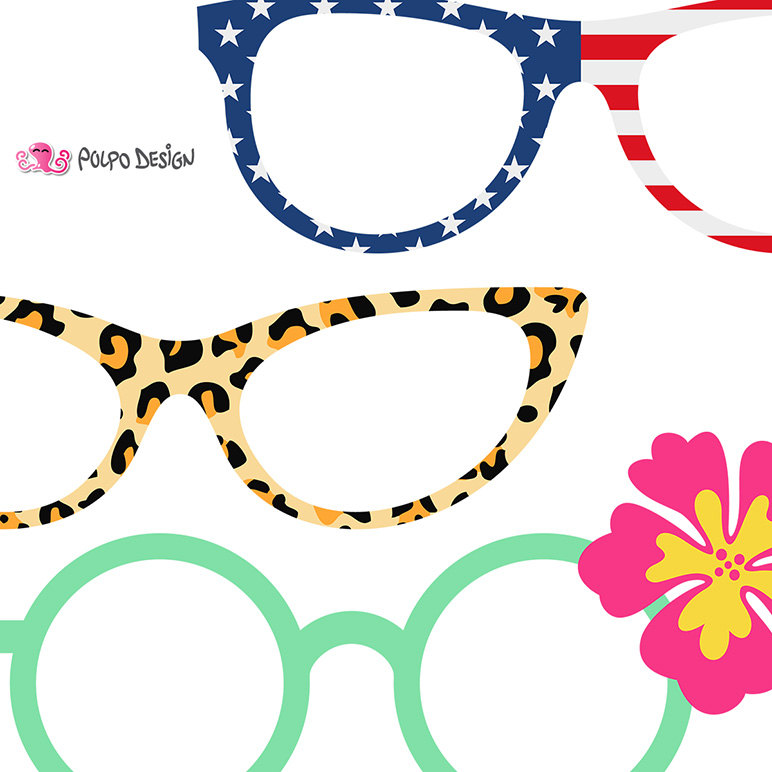 772x772 50 Glasses Clipart. Digital Glasses Clip Art, Pool Party Clipart