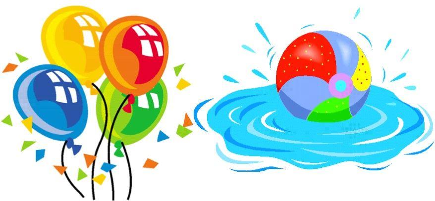 878x406 Pool Party Clipart 101 Clip Art